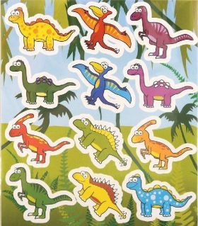 Dinosaur Sticker Sheet
