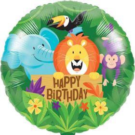 "Jungle Safari Foil Balloon 18"""