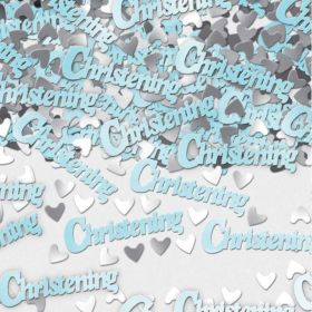 Christening Blue Metallic Confetti 14g