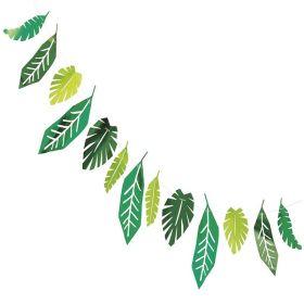 Safari Leaves Paper Foil Garland 2.1m