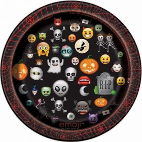 Emoji Halloween Party Pltes 18cm, pk8