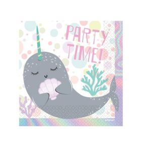Narwhal Party Napkins 33cm x 33cm, pk16