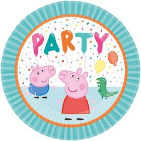 Peppa Pig Party Plates 23cm, pk8