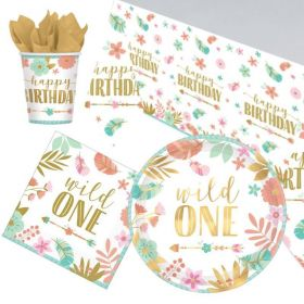 Boho Wild 1st Birthday Tableware Pack