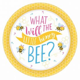 What Will It Bee? Paper Dinner Plates 23cm, pk8