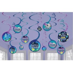 Battle Royal Swirl Decorations, pk12