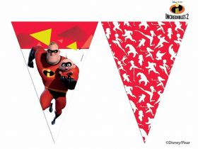The Incredibles 2 Party Plastic Flag Banner 2.3m