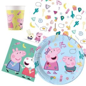 Peppa Pig Messy Play Party Tableware Pack for 8
