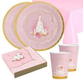 Princess for a Day Party Tableware Pack for 16