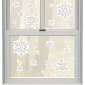 Glitter Snowflake Window Decoration