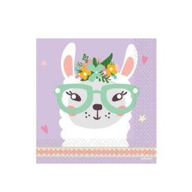 Llama Party Time Napkins 33cm x 33cm, pk16