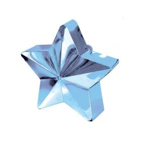 Pale Blue Star Balloon Weight