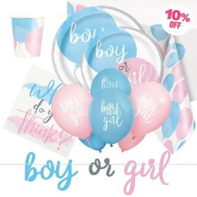 Gender Reveal Ultimate Party Pack for 8