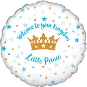 """Welcome Little Prince Foil Balloon 18"""""""