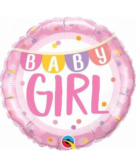 Baby Girl Pink Foil Balloon 18''
