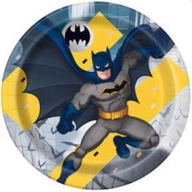 Batman Party Plates 23cm, pk8