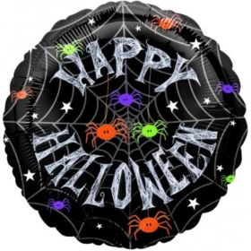 Happy Halloween Spider Frenzy Foil Balloon 18""