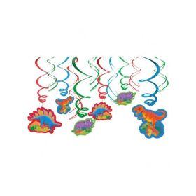 Prehistoric Dinosaur Swirls Decorations pk12