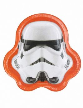 Stormtrooper Shaped Plates, pk8