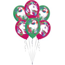 Unicorn Latex Balloons pk6