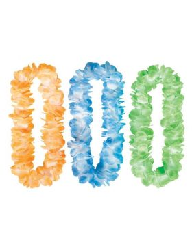 Hawaiian Mahalo Assorted Coloured Lei 1m
