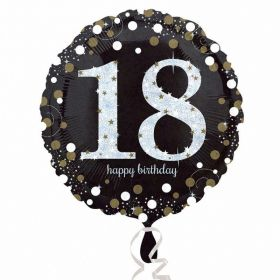 Gold Sparkling Celebration 18th Birthday Standard Foil Balloon
