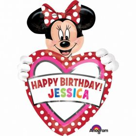 Minnie Mouse Personalised Birthday SuperShape Foil Balloon