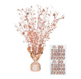 Glitz Rose Gold Balloon Weight Centrepiece
