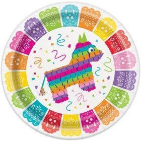 Mexican FIesta Party Plates 23cm, pk8