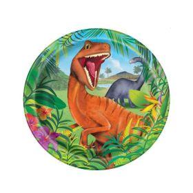 """8 Dinosaur 9"""" Plates"""