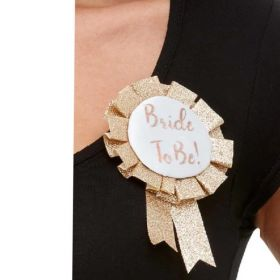 Rose Gold Bride To Be Rosette