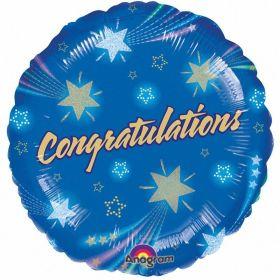 Shooting Stars Congrats Foil Balloon 18''/45cm
