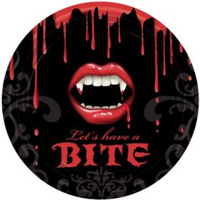 Halloween Fangtastic Party Plates