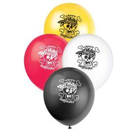 """Pirate Fun Latex Balloons 12"""", pk8"""