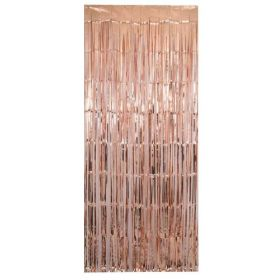 Metallic Rose Gold Foil Door Curtain