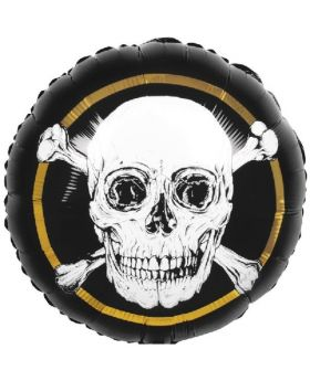 Black & Gold Pirate Foil Balloon 18""