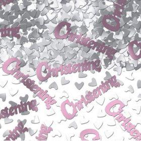 Christening Pink Metallic Confetti 14g