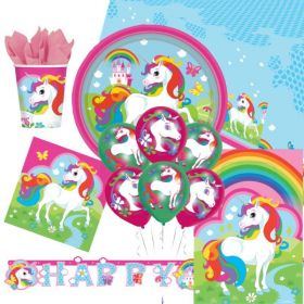 Unicorn Ultimate Party Supplies Kit for 8