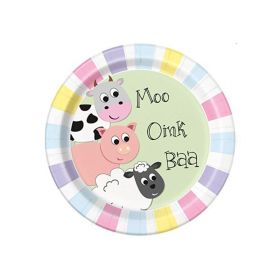 Farmyard Party Plates pk8
