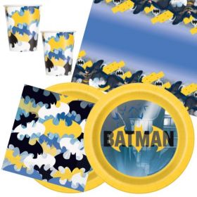 Batman Party Tableware Pack for 16