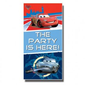 Disney Cars The Party's Here Door Banner