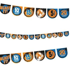 NERF Party Happy Birthday Pennant Banner 2.2m