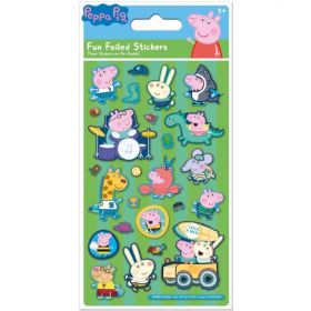 George Pig Green Foil Stickers