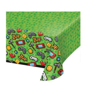Gaming Party Plastic Tablecover 1.37m x 2.6m