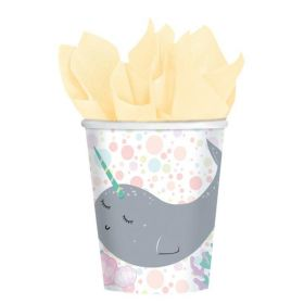 Narwhal Party Cups 250ml, pk8
