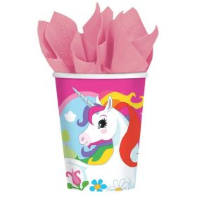 Unicorn Paper Cups 266ml, Pk8