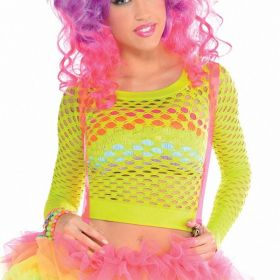 Adults Electrical Party Fishnet Top