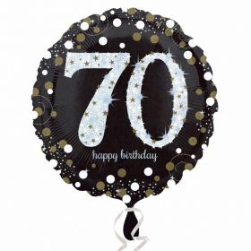 Gold Sparkling Celebration 70th Birthday Standard Foil Balloon