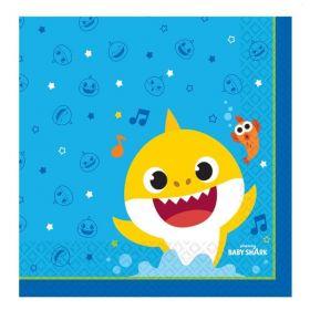 Baby Shark Napkins 33cm x 33cm, pk16