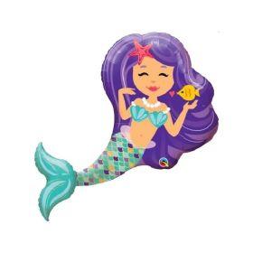 Mermaid Supershape Foil Balloon 38''